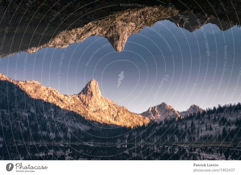 Berggebiss Natur blau Erholung Landschaft ruhig Ferne Wald Berge u. Gebirge Umwelt Freiheit See Stimmung Erde Zufriedenheit Wetter Tourismus