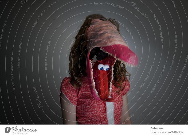 nur Augen für dich im Kopf! Mensch Frau Erwachsene feminin Maske Karneval gruselig Karnevalskostüm Halloween Monster