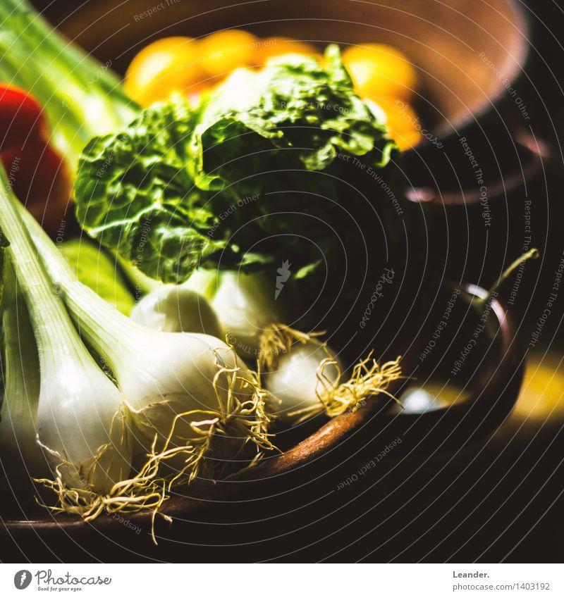 Gesund leben Salat Salatbeilage Ernährung Topf Lifestyle Gesundheit Gesundheitswesen Wohnung Garten Koch Essen braun grün schwarz Idee Identität einzigartig