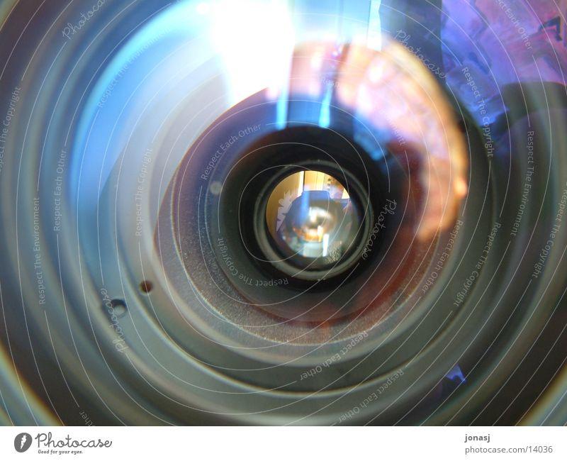 Schau mir in die Linse Sonne nah Fotokamera Dinge Linse Zweck Reflexion & Spiegelung