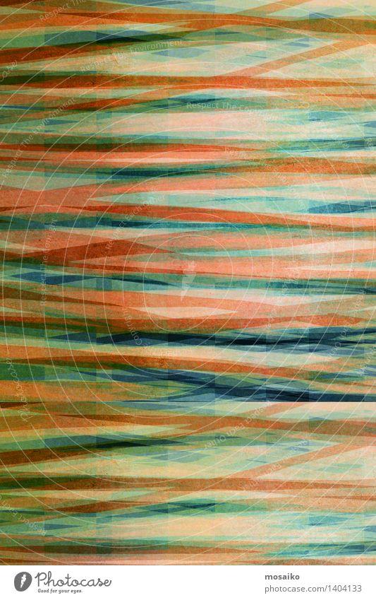 abstrakter gestreifter Hintergrund - strukturiertes Grafikdesign Design Dekoration & Verzierung Kunst Papier Streifen einfach elegant retro trashig blau grün