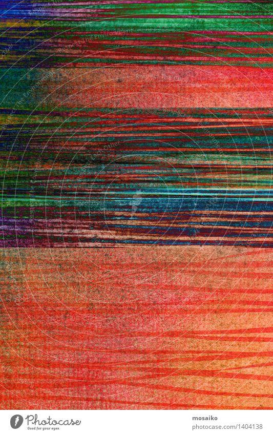 abstrakter gestreifter Hintergrund - strukturiertes Grafikdesign Design Dekoration & Verzierung Kunst Papier Streifen dreckig dunkel retro blau grün Farbe rau