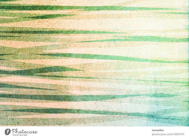 abstrakter gestreifter Hintergrund - strukturiertes Grafikdesign Design Dekoration & Verzierung Kunst Papier Streifen alt dreckig retro blau grün Farbe rau