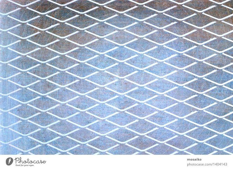geometrische Form - Gitter - abstraktes Hintergrunddesign Design Platz Linie Unendlichkeit blau grau Sicherheit Schutz Zufriedenheit Präzision Raster gebunden
