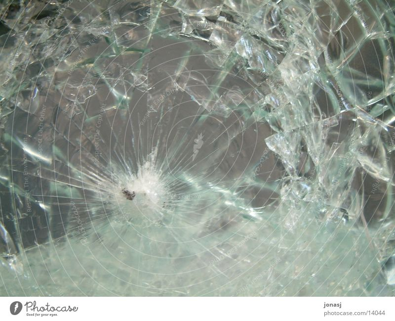 Uii, das war die Scheibe PKW kaputt Dinge Riss Splitter Glasscheibe gesplittert