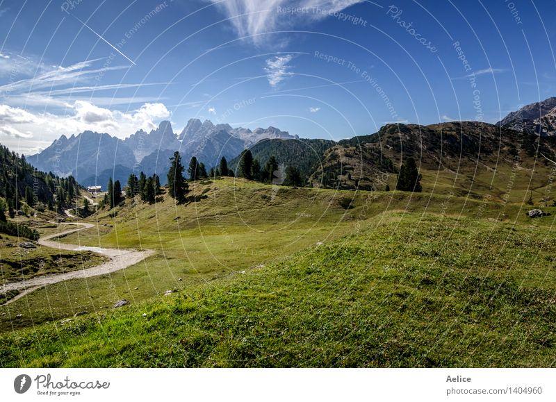 Norditalienische Berglandschaft - Trentino Alt Adige Ferien & Urlaub & Reisen Berge u. Gebirge Sport Klettern Bergsteigen Natur Landschaft Himmel Wolken