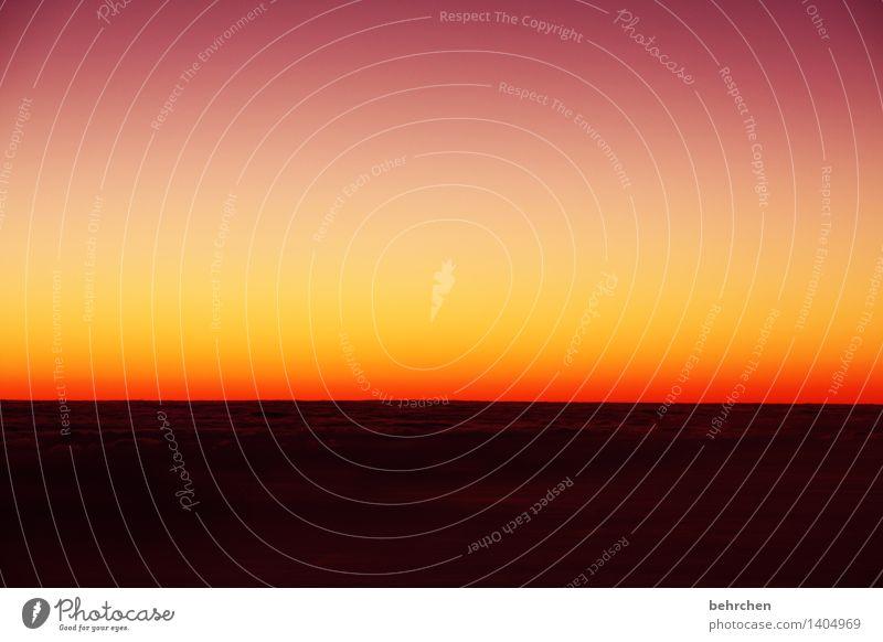 abschied und hoffnung Himmel Ferien & Urlaub & Reisen schön Sommer Landschaft Wolken Ferne Berge u. Gebirge Frühling außergewöhnlich Freiheit orange träumen