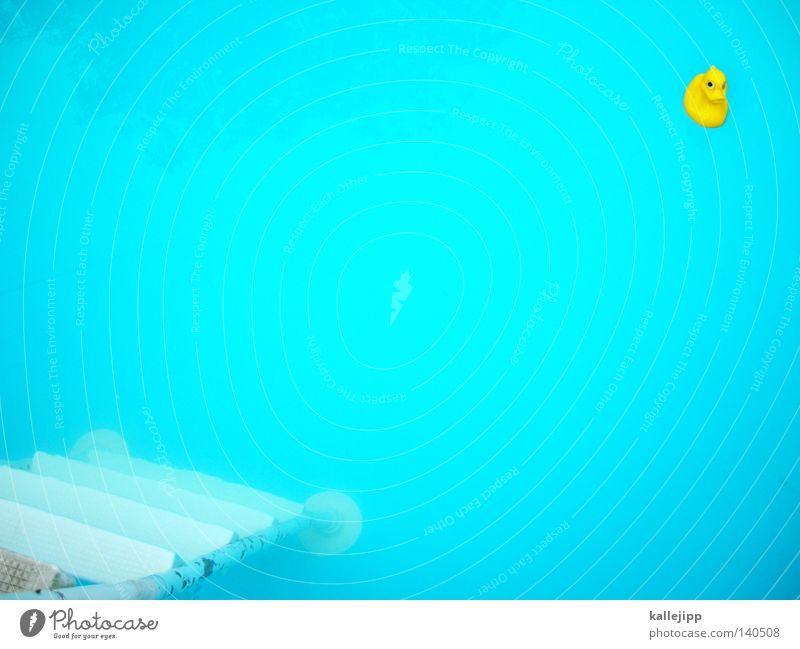 40 jahre yellow submarine Wasser blau rot Sommer Freude gelb Farbe dunkel kalt Spielen Luft Wellen Kunst warten frisch Aktion