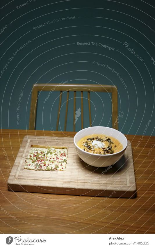 Mahlzeit blau grün Essen natürlich Gesundheit außergewöhnlich Lebensmittel orange frisch elegant ästhetisch Tisch einfach Sauberkeit Stuhl lecker