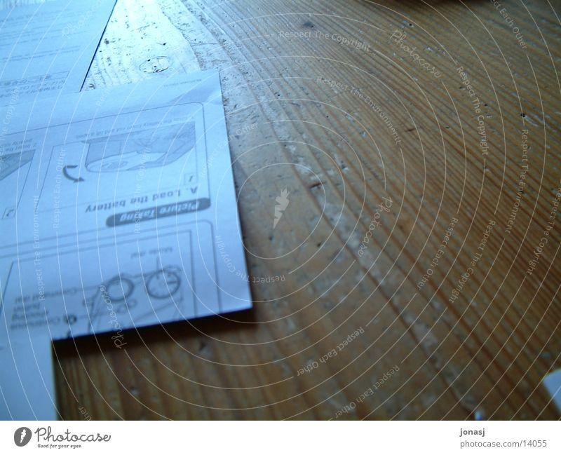 Ticket zur Fotografie Holz Tisch Technik & Technologie Maserung Anleitung Elektrisches Gerät