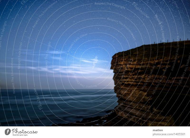 Stern, auf den ich schaue, Fels, auf dem ich steh.... Natur Landschaft Wasser Himmel Wolkenloser Himmel Horizont Wetter Schönes Wetter Felsen Küste Meer