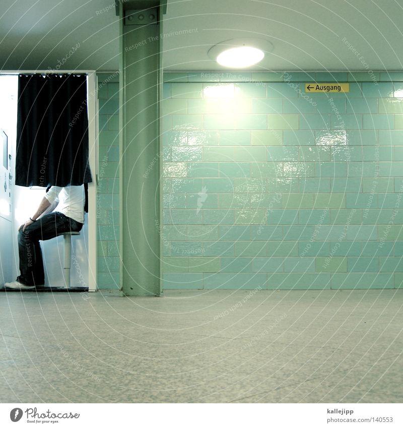 100% ige - deinfotowurdebestätigt - garantie Fotoautomat 1 Mensch einzeln Vorhang kopflos gesichtslos anonym unerkannt unkenntlich Textfreiraum unten