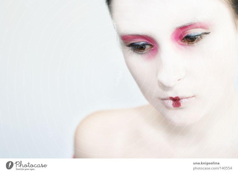 .ria Haut Schminke Lippenstift ruhig Karneval Junge Frau Jugendliche Erwachsene Maske weiß rein unschuldig Asien Asiate China Japan Kostüm Karnevalskostüm