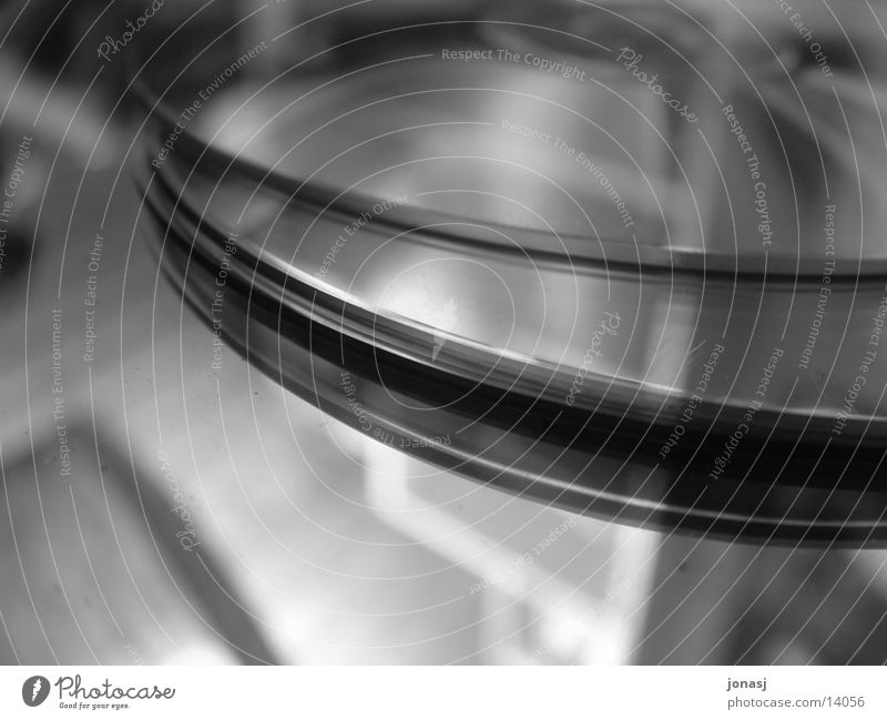 Glanz der Technick Spiegel Freizeit & Hobby Compact Disc Reflektionen Schwarzweißfoto Makroaufnahme