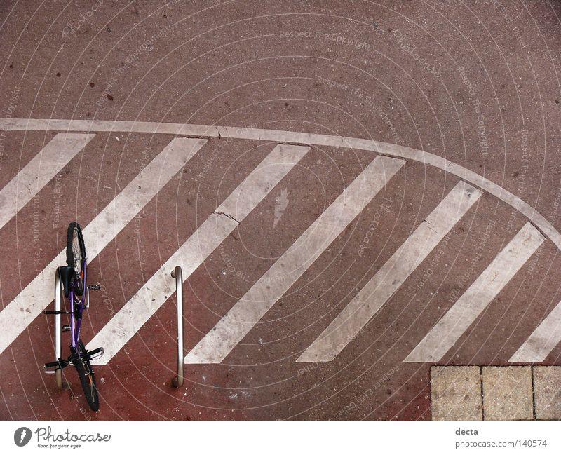 Fahrrad Beton Streifen Verkehrswege Stab
