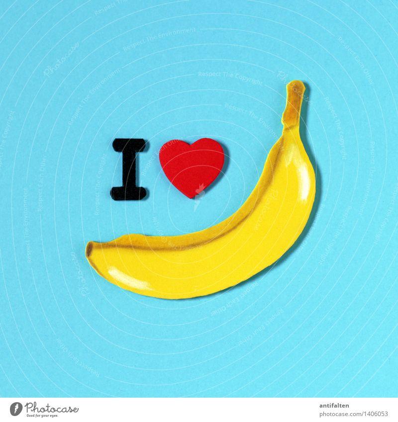 I <3 bananas Lebensmittel Frucht Banane Ernährung Essen Bioprodukte Vegetarische Ernährung Diät Fasten Freizeit & Hobby Handarbeit heimwerken Basteln Moosgummi