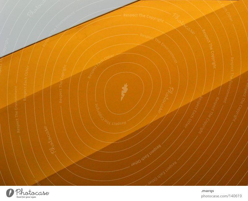 The Flipside gelb Dach Strukturen & Formen abstrakt Geometrie Oberfläche Lichteinfall Farbe Linie orange Schatten Übergang ... Architektur
