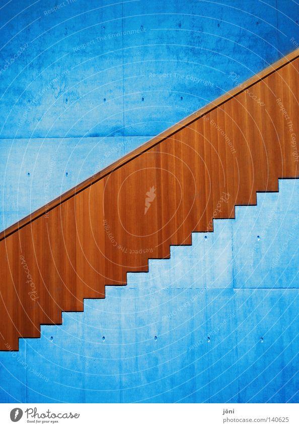 """Stairs to haven (or """"Stairs to heaven"""") Himmel Natur blau schön ruhig Ferne kalt Architektur Stil Gebäude Holz Kunst Stein Linie oben Arbeit & Erwerbstätigkeit"""