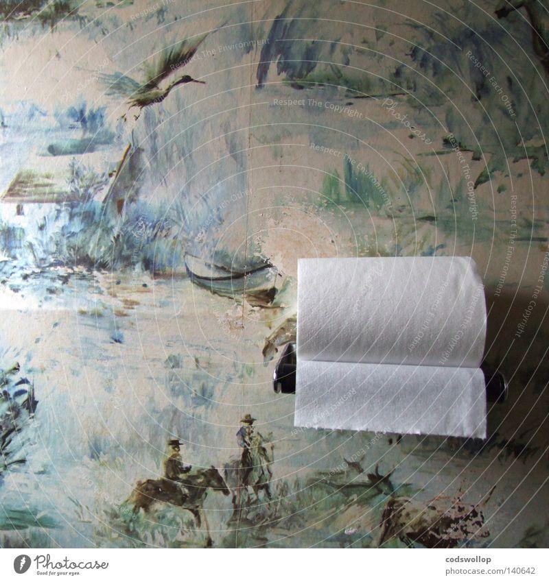 spend a penny Haus Bad Toilette Mitte Held schick Siebziger Jahre Haushalt Provence Frankreich Reiter Storch Zirkus Routine