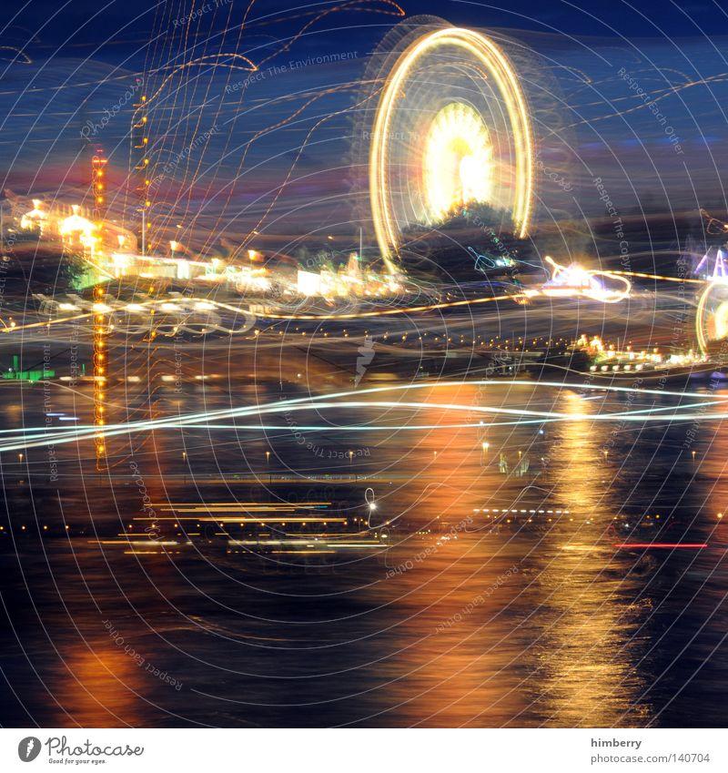 totalschaden Himmel Wasser Stadt Ferien & Urlaub & Reisen Freude dunkel Lampe Deutschland Beleuchtung Angst groß Design Verkehr modern Brücke Lifestyle