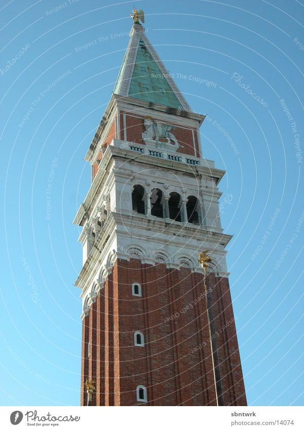 Kampanile von Venedig Himmel Europa Turm Bauwerk Italien Markusplatz