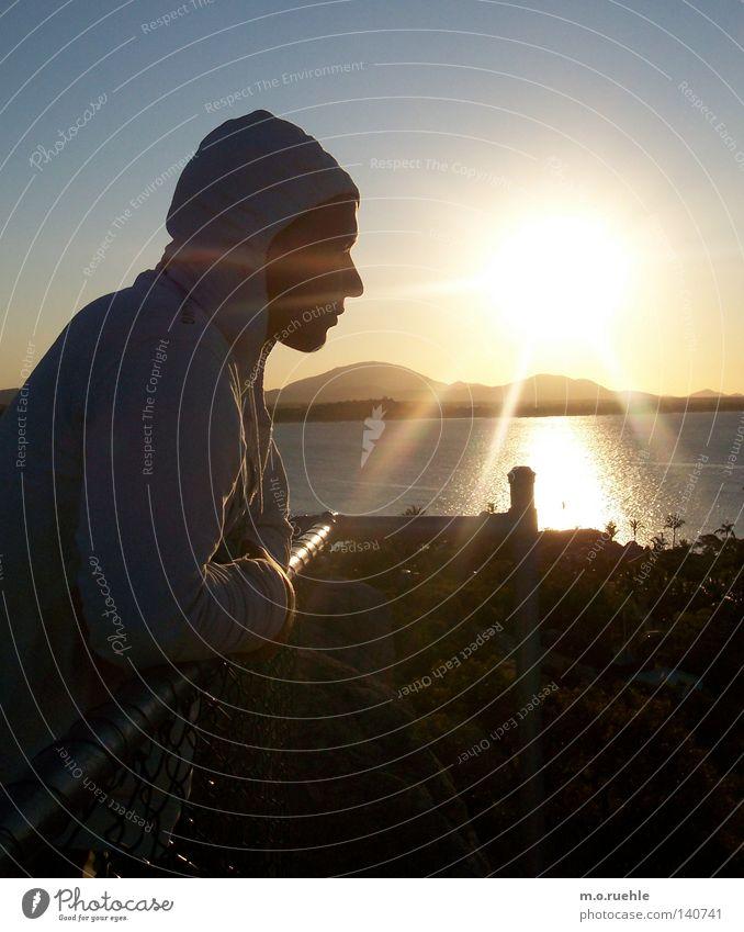 du weißt nicht was ich sehe, ich blende Sonnenuntergang Meer Gegenlicht Sehnsucht Australien Aussicht Blick Liebeskummer Horizont Meeresspiegel Ferne Strahlung