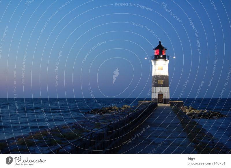 Wegweiser Turm Meer Leuchtturm Sonnenaufgang Nacht Licht schleimünde Segeln Wasserfahrzeug