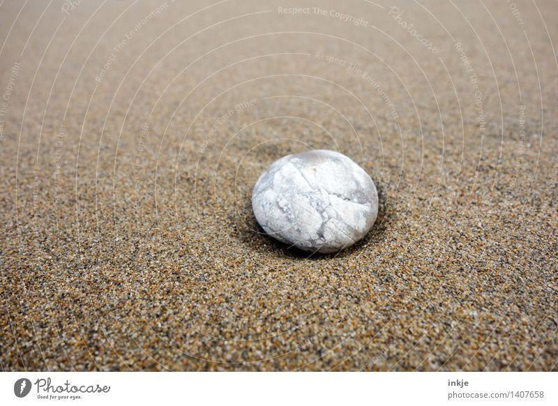 Sandstein Natur Strand Kieselsteine Stein hell klein maritim rund weich braun weiß rein beige geschliffen Glätte einzeln Muster Farbfoto Gedeckte Farben