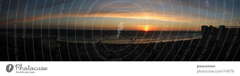 Panorama Borkum bei Nacht II Wasser Sonne Meer Insel Romantik Nacht