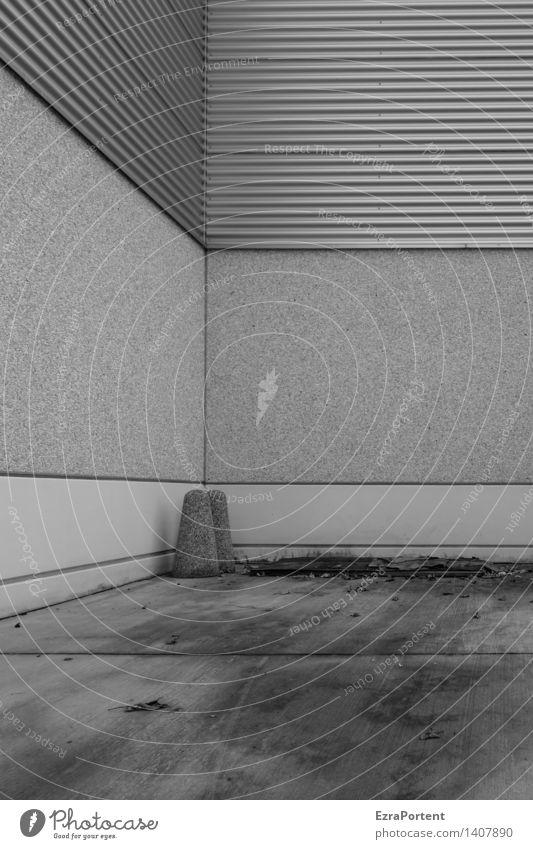 Kegelabend Stadt Haus dunkel Wand Architektur Gebäude Mauer Linie Fassade Metall dreckig stehen Beton Ecke Streifen Bauwerk