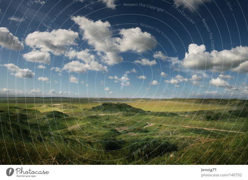 Bei den Ostfriesen. Natur Himmel Meer grün Strand Ferien & Urlaub & Reisen Wolken Wiese Landschaft Küste Deutschland Wind Wetter Insel Sturm Idylle