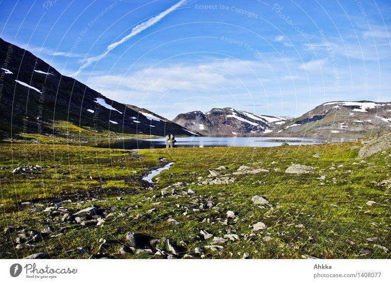 Bergpanorama Himmel Ferien & Urlaub & Reisen schön Einsamkeit ruhig Wolken Ferne Berge u. Gebirge Freiheit See Stimmung Zufriedenheit Idylle Kraft wandern