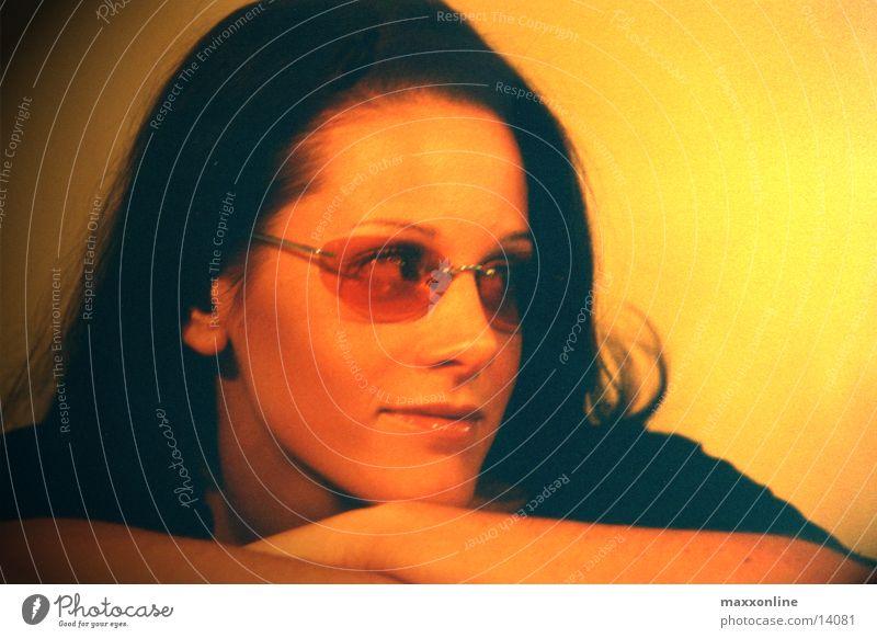 Look Frau Brille Sonnenbrille