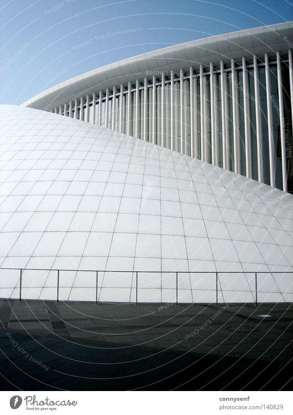 Philharmonie - Luxemburg weiß blau grau Gebäude Architektur Design Europa modern Bauwerk Niederlande Belgien Berliner Philharmonie