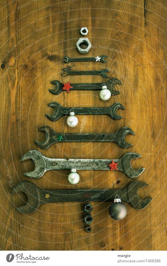 Weihnachtsbaum für KFZ - Mechaniker mit unterschiedlich großen Schraubenschlüsseln Basteln Modellbau heimwerken Feste & Feiern Weihnachten & Advent
