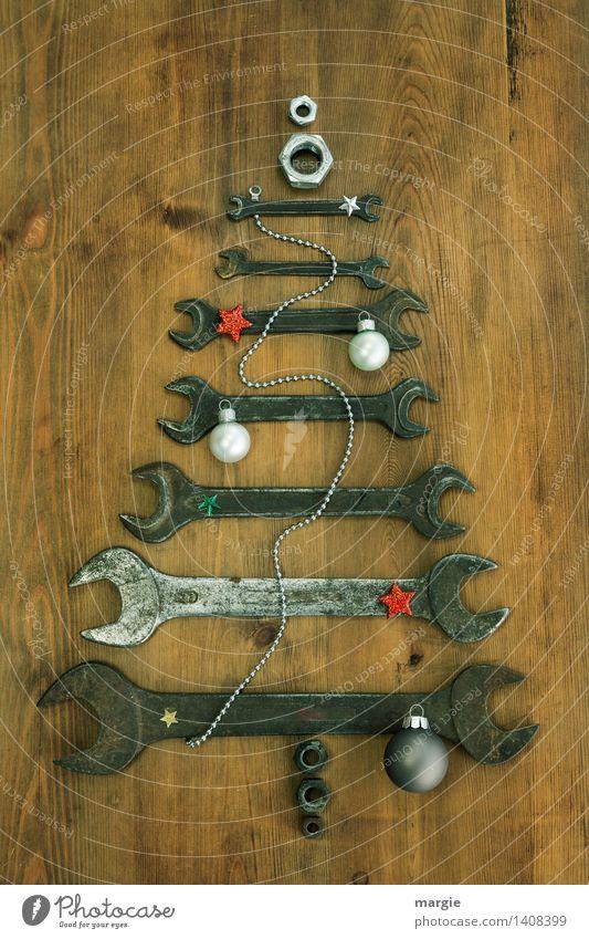 Weihnachtsbaum für Handwerker: verschieden große Schraubenschlüssel mit Kette  Weihnachtsschmuck Freizeit & Hobby Feste & Feiern Weihnachten & Advent