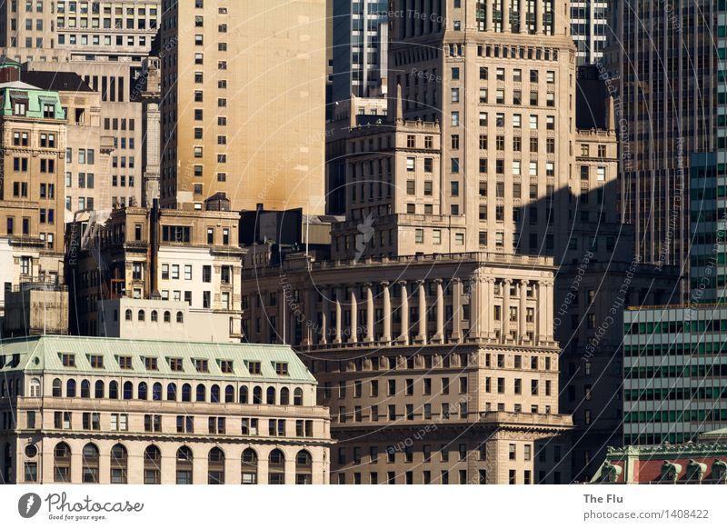 Häusermeer Ferien & Urlaub & Reisen Tourismus Häusliches Leben Wohnung Haus Büroarbeit Baustelle New York City Manhattan Stadtzentrum USA Nordamerika Skyline