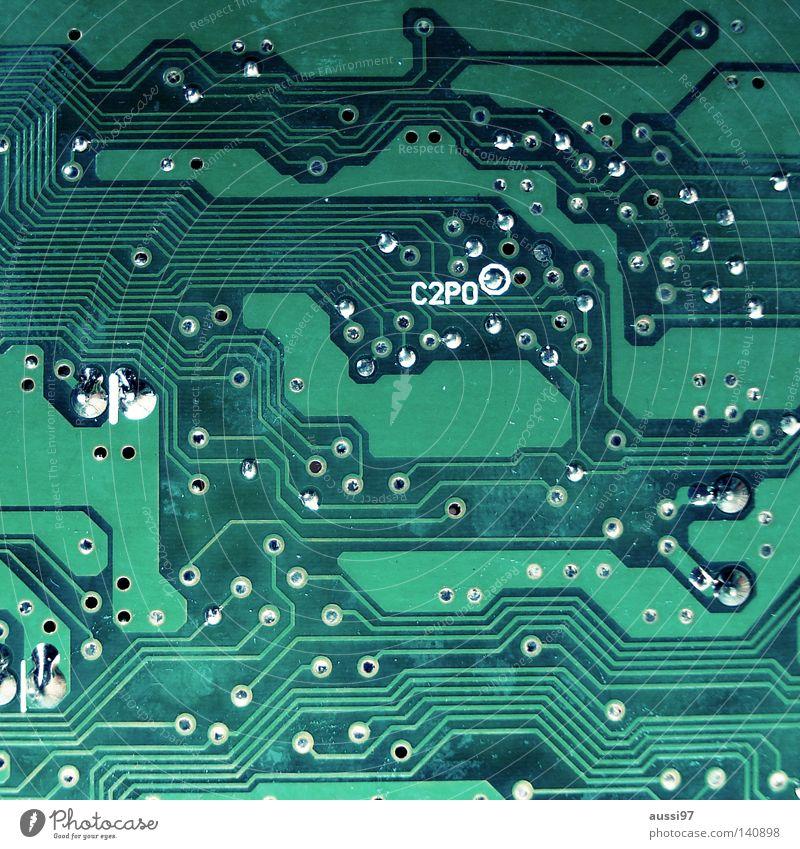 C2PO/No Star wars Computer Technik & Technologie Informationstechnologie Mikrochip Platine Hardware Elektronik Elektrisches Gerät Leiterbahn Kondensator