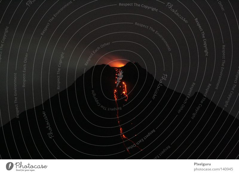 Volcán rot Berge u. Gebirge Aktion Vulkan Brandasche Lava Mittelamerika Vulkankrater glühend Vulcano Costa Rica
