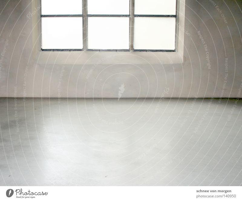 glanz in der hütte weiß Fenster schwarz Leben Architektur grau hell Raum modern Beton Ecke Sauberkeit Bodenbelag Dorf Köln Glätte