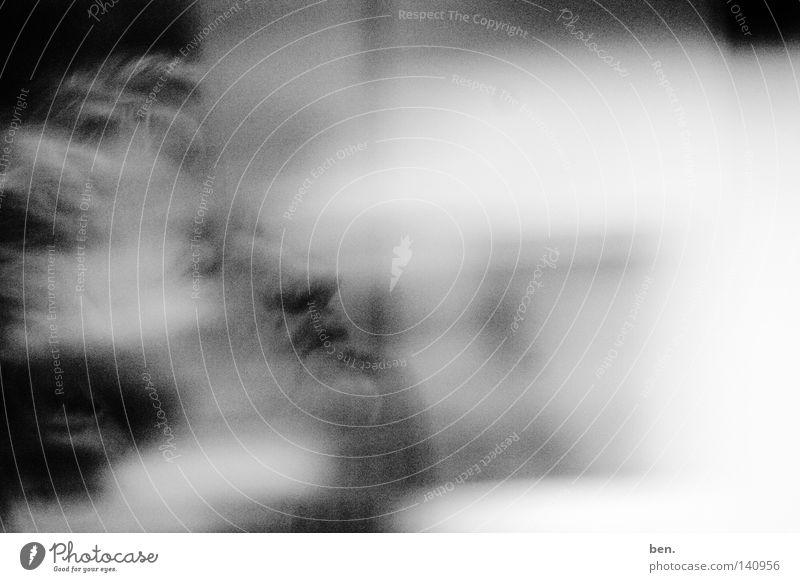 I Don't Remember Porträt grau Rauschen Licht Geschwindigkeit Gedanke möglich Gehirn u. Nerven Gefühle Fade Away Peter Gabriel Synapsen