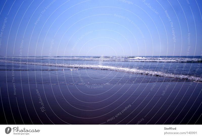 Atlantik Wasser blau Sommer Strand Einsamkeit Farbe Wellen Portugal Kühlung Sagres Westküste