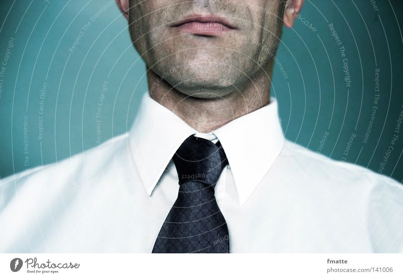 Geschäftsmann Mann Krawatte Geschäftsleute ernst Arbeit & Erwerbstätigkeit Ladengeschäft seriös streng Mensch Konzentration Business