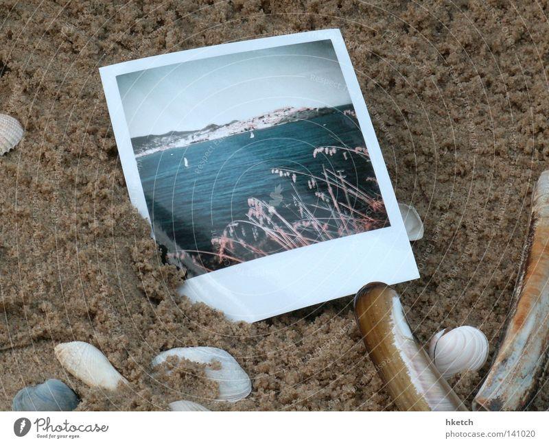 Undeutliche Erinnerung Himmel Meer Sommer Strand Ferien & Urlaub & Reisen Polaroid Sand Küste