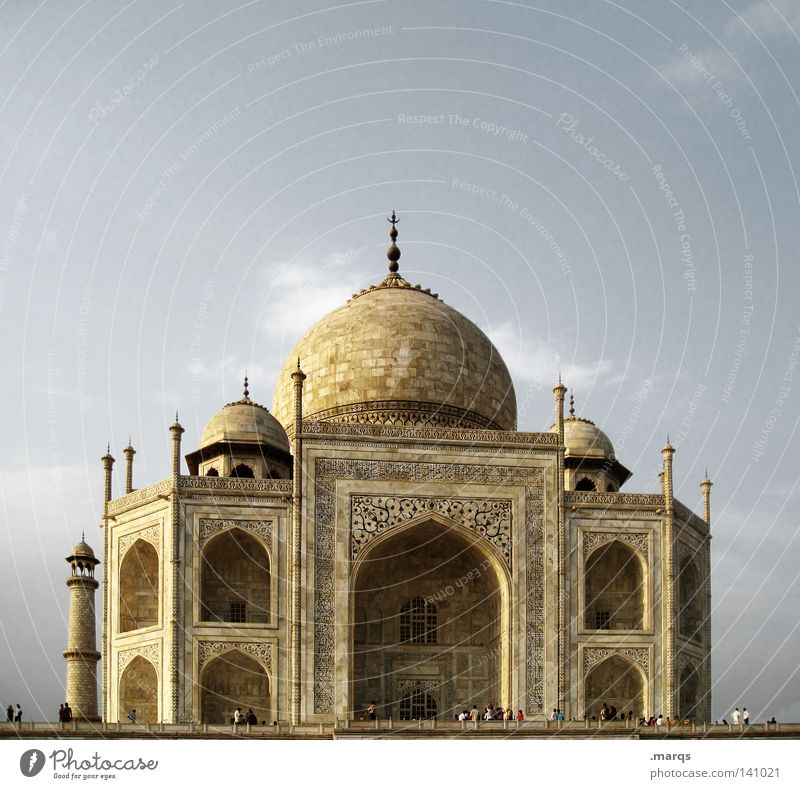 Taj Agra Grab Asien Indien Tempel Marmor Ferien & Urlaub & Reisen Palast Macht Religion & Glaube Bauwerk Hinduismus Wahrzeichen Weltkulturerbe historisch