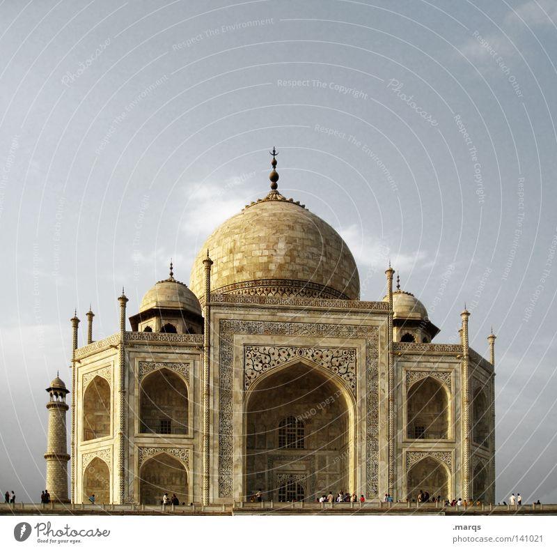 Taj Ferien & Urlaub & Reisen Gebäude Religion & Glaube Architektur Macht Asien Bauwerk historisch Indien Wahrzeichen Grab Tempel Kuppeldach Marmor Palast