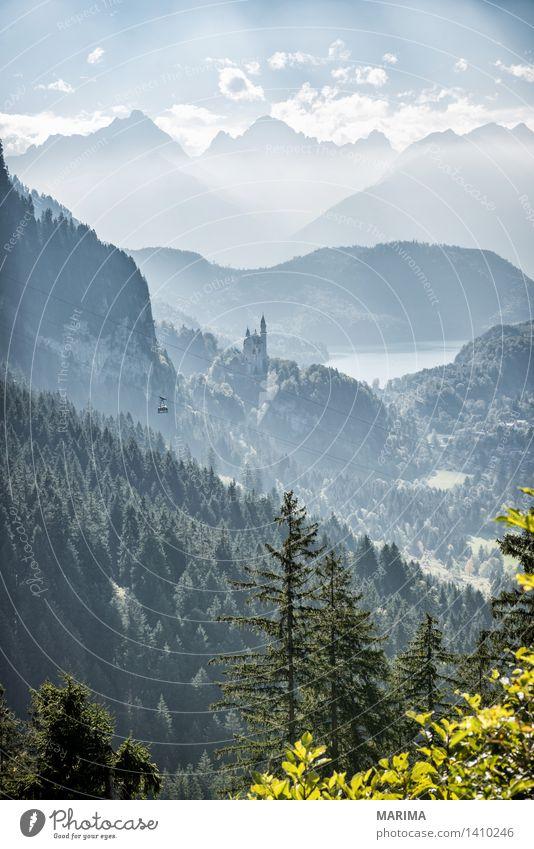 Autumn day in the Allgäu Natur Ferien & Urlaub & Reisen Pflanze blau grün Sonne Landschaft ruhig Wolken Wald Berge u. Gebirge Umwelt Herbst Stein Deutschland