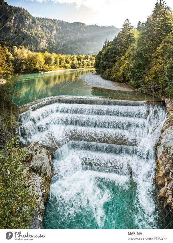 Autumn day in the Allgäu Natur Ferien & Urlaub & Reisen Pflanze blau grün Wasser Sonne Landschaft ruhig Berge u. Gebirge Umwelt Herbst Stein Deutschland Felsen