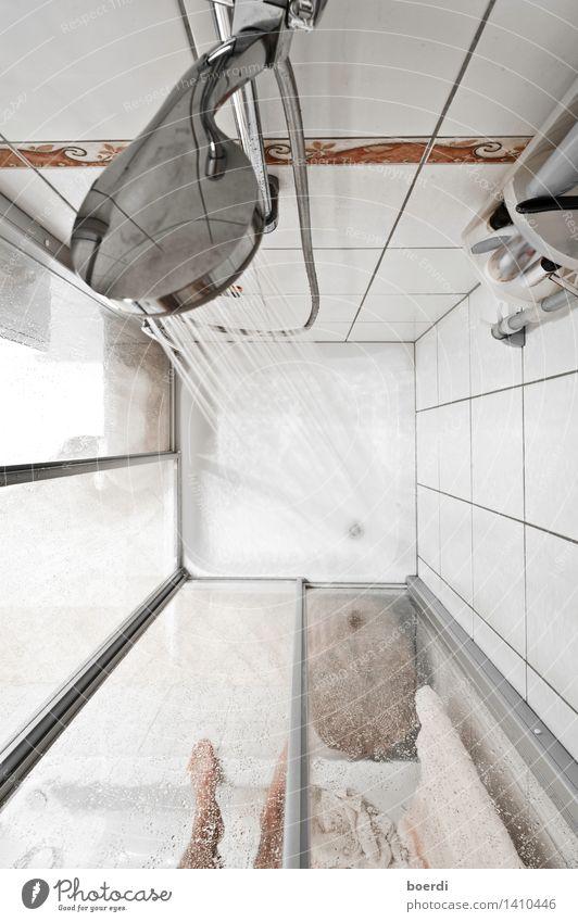 bRausen gehen Körperpflege Häusliches Leben Bad schön Fototechnik Duschkopf Dusche (Installation) Duschwanne Waschen Gedeckte Farben Innenaufnahme Luftaufnahme