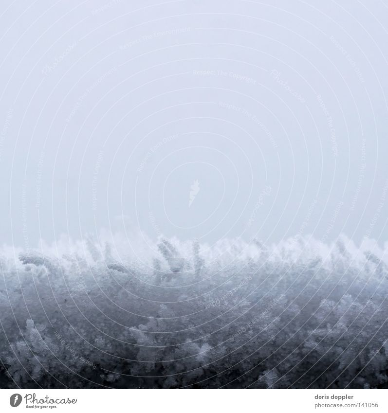 eisgrau Himmel Winter kalt Schnee grau Eis Quadrat Farbe Haarschnitt Schneekristall Schneedecke